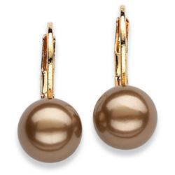 Chocolate Shell Pearl Dangle Earrings