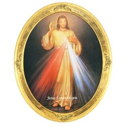 Divine Mercy Oval Framed Print