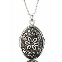 Extra Large Sterling Silver Daisy Locket and Necklace