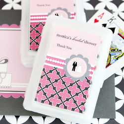 Wedding Shower Playing Cards with Personalized Labels