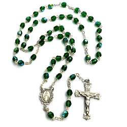 Bohemian Glass May Birthstone Rosary