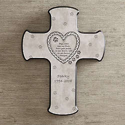 Dog or Cat Personalized Pet Memorial Wall Cross