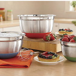 Silicone Bottom Stainless Steel Mixing Bowls