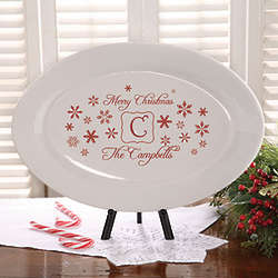 Personalized Winter Wonderland Holiday Serving Platter
