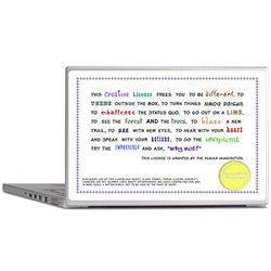 Creative License Laptop Skin