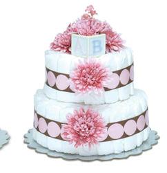 Pink Mums Diaper Cake