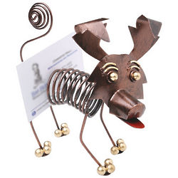 Dog Spiral Business Card Holder
