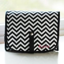 Personalized Chevron Hanging Cosmetic Bag