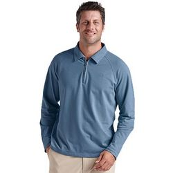 Men's ZnO Quarter Zip Polo with UPF 50+