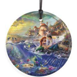 Thomas Kinkade The Little Mermaid Hanging Glass Print