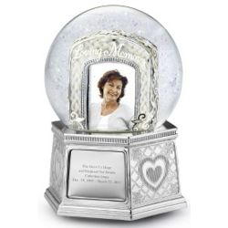 Loving Memory Photo Snow Globe