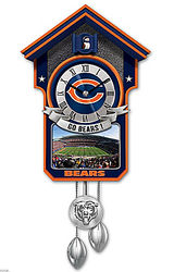 Chicago Bears Tribute Cuckoo Clock