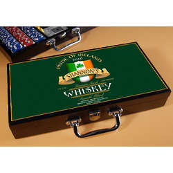 Personalized Irish Whisky Poker Set