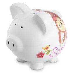 Personalized Jungle Jill Piggy Bank