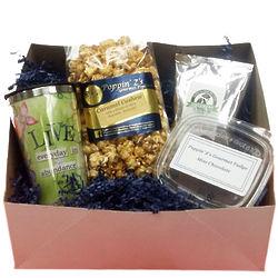 Live Abundantly Popcorn, Coffee and Mug Gift Box