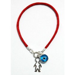 Boy Protection Charms on Red String Bracelet