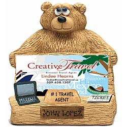 Personalized Business Card Holder for Travel Agent