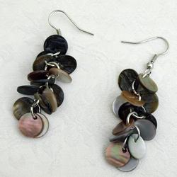 Shell Cluster Dangle Earrings