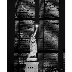 Liberty and the World Trade Center Print