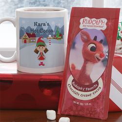 Family Character Personalized Mug & Hot Cocoa Set