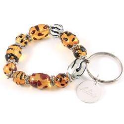 Personalized Animal Attraction Charm Bracelet Keychain