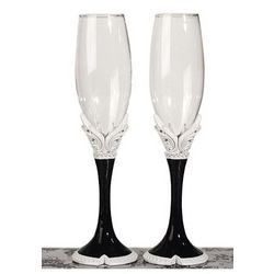 Black and White Collection Toasting Flute