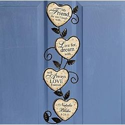 Personalized Love Forever Wall Hanging