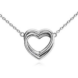 Hearts Entwined Necklace in Sterling Silver