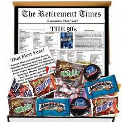 Retirement Times Gift Box Remember That 1st Year in the 1980s