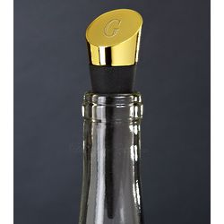 Highborn Personalized Brass Wine Bottle Stopper