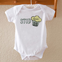 Stud Muffin Personalized Baby Bodysuit