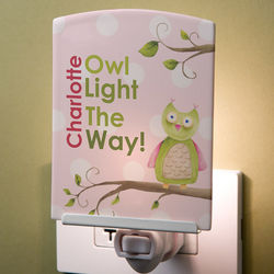 Personalized Kid's Owl Night Light