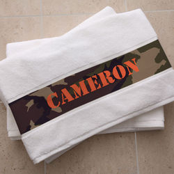 Camouflage Collection Personalized Bath Towel