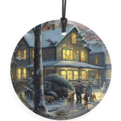 Thomas Kinkade A Christmas Story Hanging Glass Print