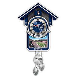 New England Patriots Tribute Cuckoo Clock