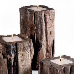Reclaimed Teak Wood Candle