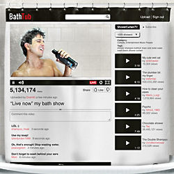 Bathtub Video Shower Curtain