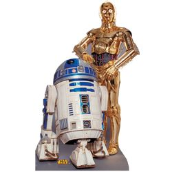 R2-D2 & C-3PO Stand-Up Cutouts