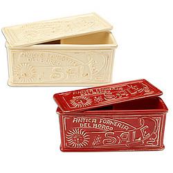 Italian Ceramic Divided Salt Boxes Findgift Com
