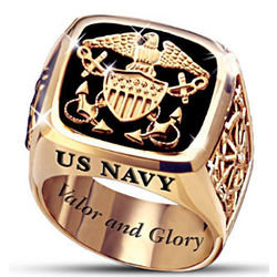 US Navy Valor and Glory Men's Ring