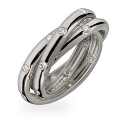 Tiffany Inspired Etoile Trinity Ring
