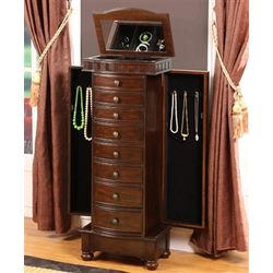 Large Modern Floor Standing Jewelry Box Cabinet