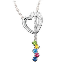 Mother's Precious Gems Birthstone Necklace