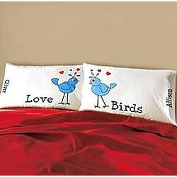 Personalized Lovebirds Pillowcase Set