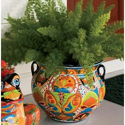 Hand Painted and Glazed Ceramic Talavera Planter