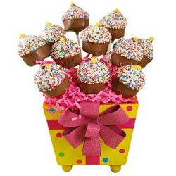 Cupcake Pops in a Gift Pail