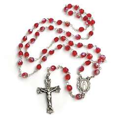 Bohemian Glass July Birthstone Rosary