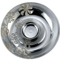 Mother of Pearl Flower Chip Dip Bowl