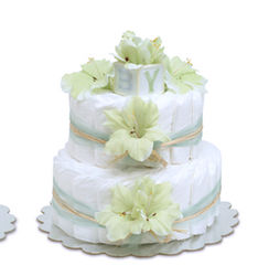 Mint Green Gladiolas Diaper Cake