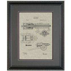 Gatling Gun Patent Art Replica Print